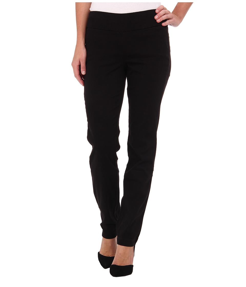 Miraclebody Jeans Janis Pull-On Tapered Sueded Sateen (Black) Women