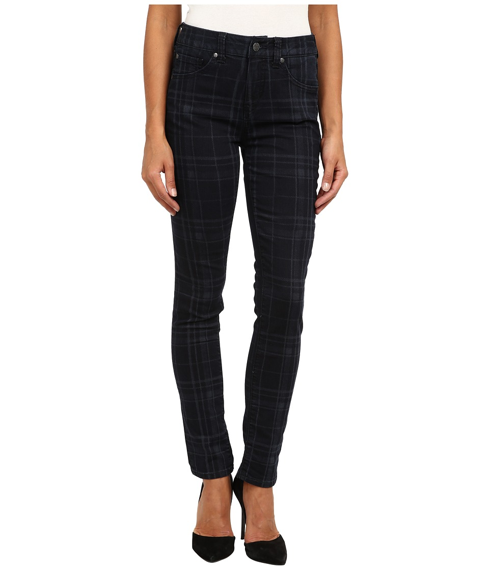 Miraclebody Jeans - Five-Pocket Skinny Minnie Jean w/ Plaid Laser Print in Rockford (Rockford) Women's Jeans