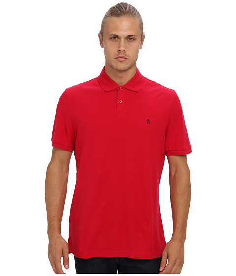 Original Penguin - Daddy-O Polo (Crimson) Men's Short Sleeve Pullover