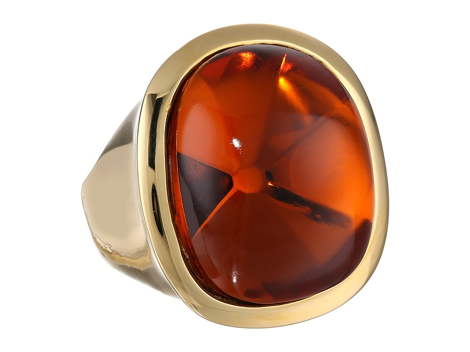 Kenneth Jay Lane - 7142RPGT Ring (Polished Gold Tortoise) Ring