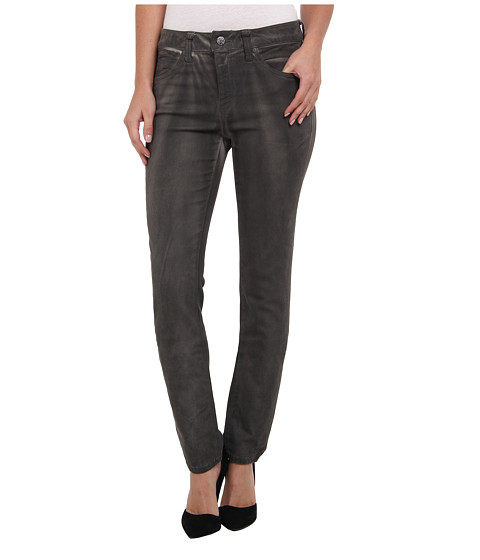 Miraclebody Jeans - Rikki Lacquered Five-Pocket Skinny Jean in Smoke (Smoke) Women's Jeans