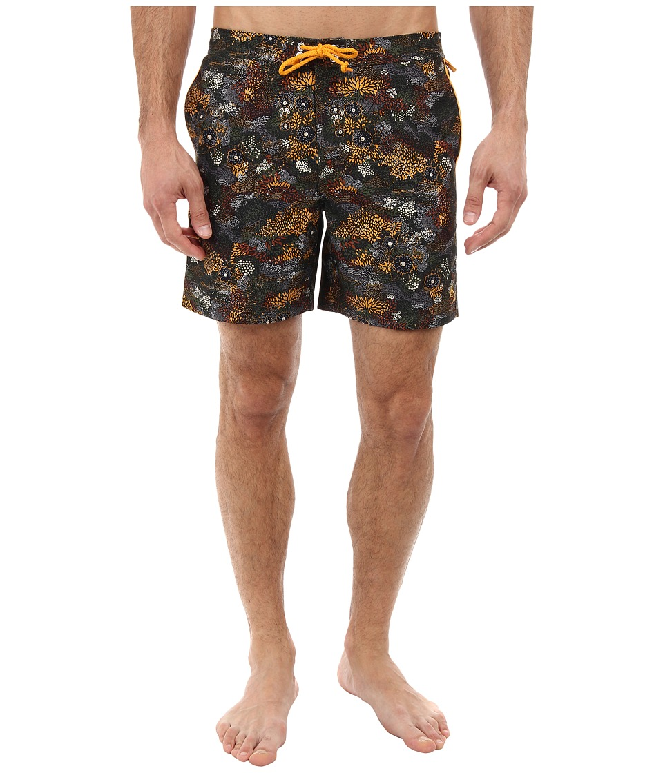 Original Penguin - Fixed Waist Camo Volley Swim Short (Rifle Green) Men's Swimwear