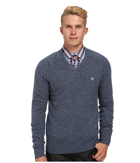 Original Penguin - Hector V-Neck (Infinity) Men's Sweater