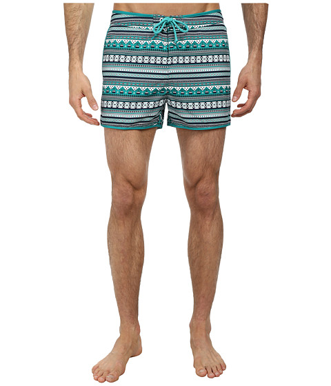Original Penguin - Fairisle Print Box Swim Trunk (Parasailing) Men