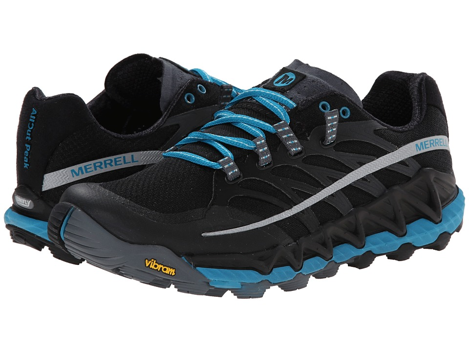 Merrell - All Out Peak (Black/Algiers Blue) Women's Shoes