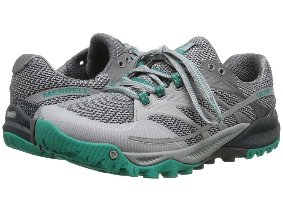 Merrell - All Out Charge (Light Grey/Dynasty Green) Women's Shoes