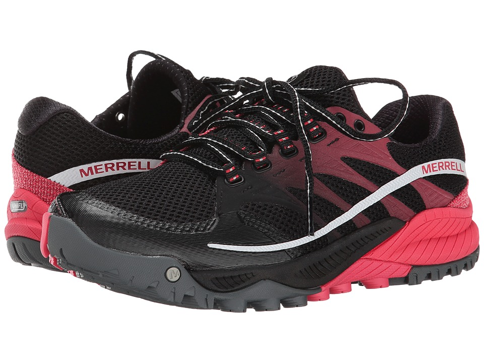 Merrell - All Out Charge (Black/Geranium) Women's Shoes