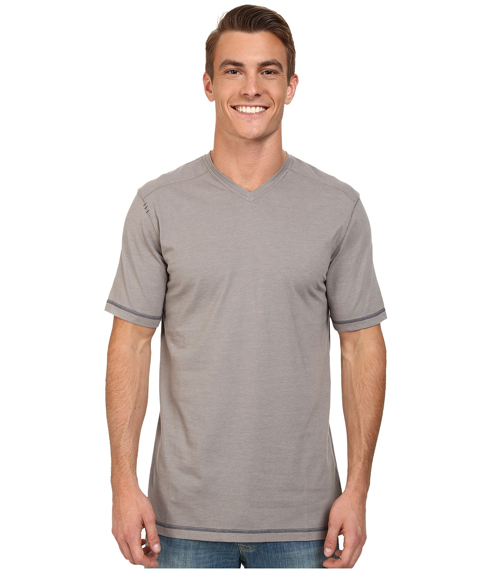 Ecoths - McKinney V-Neck Tee (Frost Grey) Men