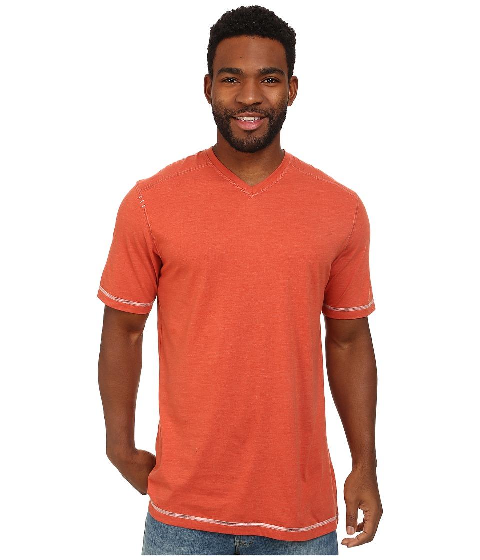 Ecoths - McKinney V-Neck Tee (Ginger Spice) Men's T Shirt