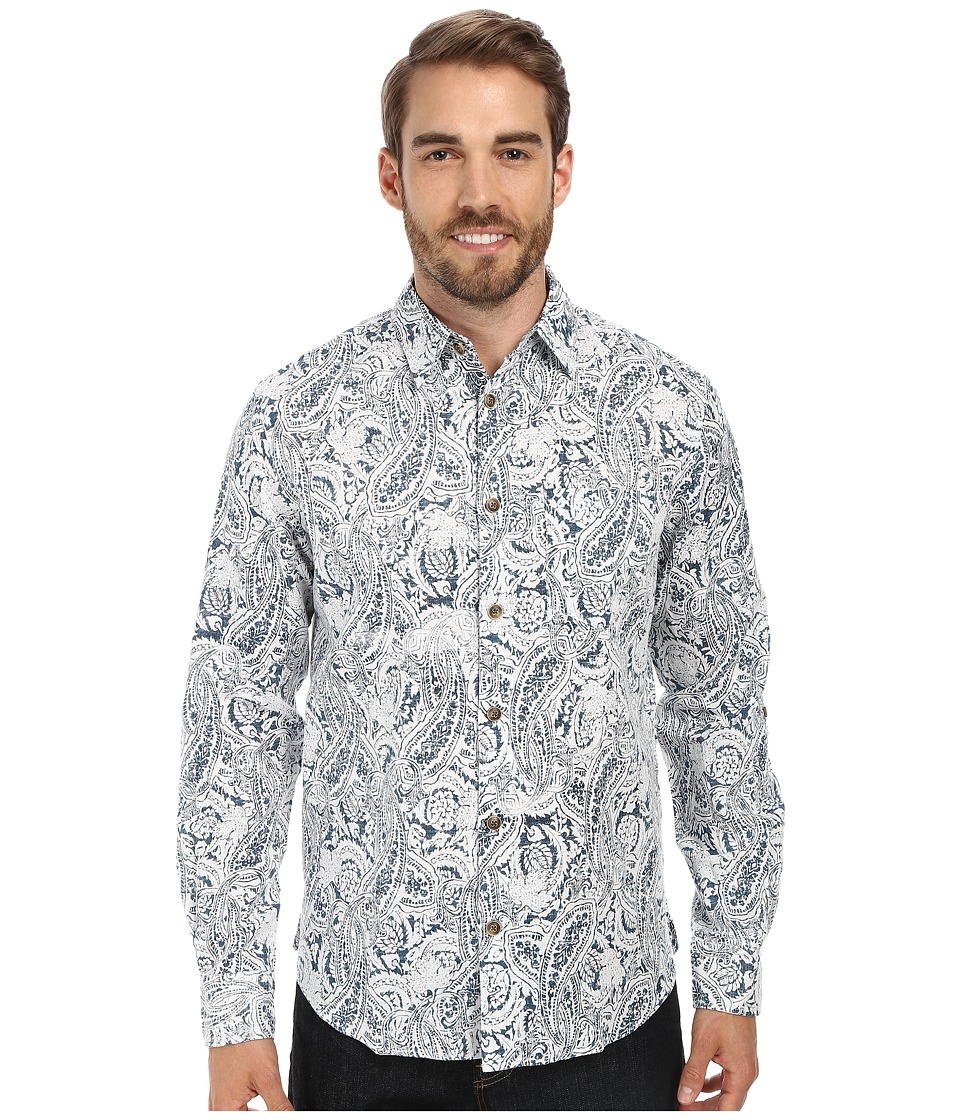 Ecoths - Gulliver L/S Shirt (Majolica Blue) Men's Long Sleeve Button Up