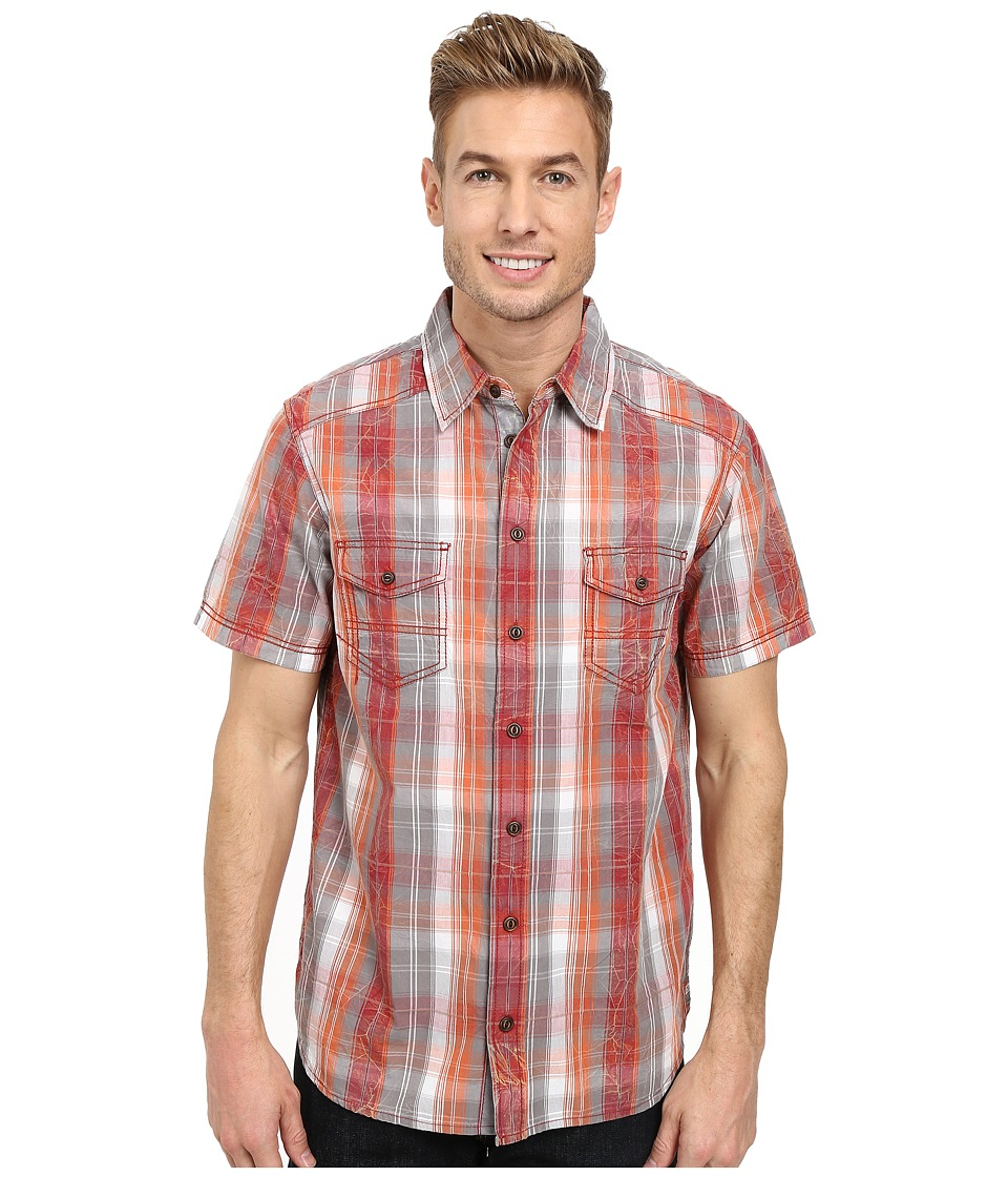 Ecoths - Bentley Shirt (Brick Red) Men's Short Sleeve Button Up