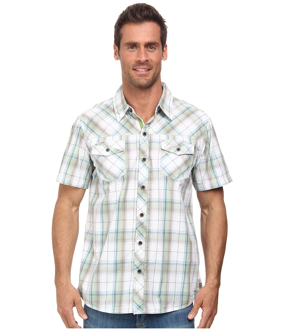 Ecoths - Marlon Shirt (Green Eyes) Men's Short Sleeve Button Up