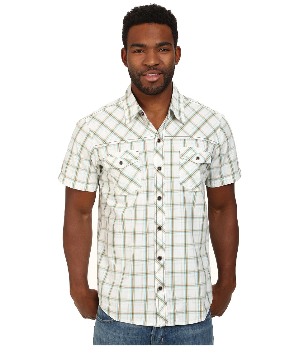 Ecoths - Xavier Shirt (Green Eyes) Men's Short Sleeve Button Up