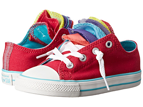 Converse Kids - Chuck Taylor All Star Party Slip (Infant/Toddler) (Berry Pink/Peacock/Blush) Girls Shoes