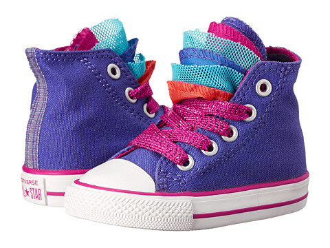 Converse Kids - Chuck Taylor All Star Party Hi (Infant/Toddler) (Periwinkle/Berry Pink/Blush) Girls Shoes