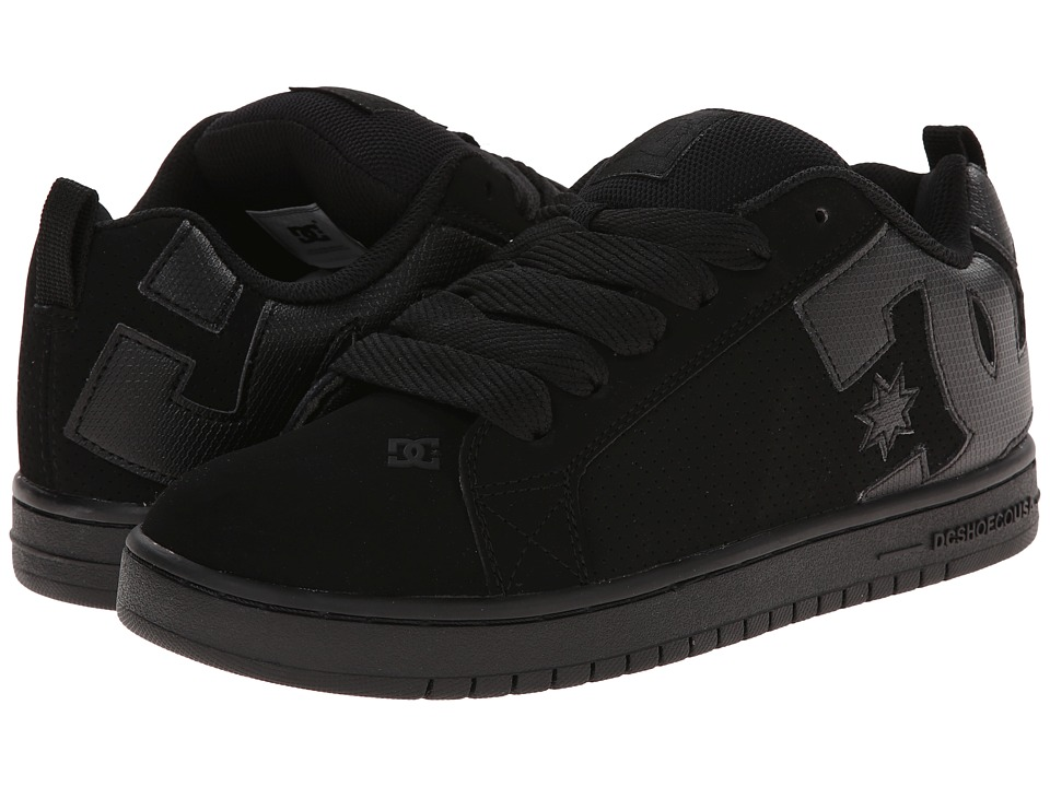 DC - Court Graffik (Black/Black/Black 2) Men's Skate Shoes