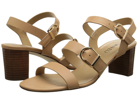 Vaneli - Maryjo (Natural Bulgaro/Gold Buckles) Women's 1-2 inch heel Shoes