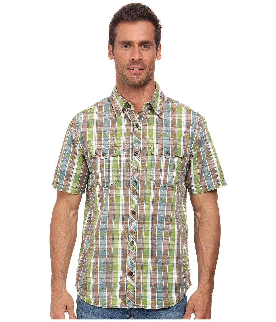 Ecoths - Holden Shirt (Lake Blue) Men's Short Sleeve Button Up