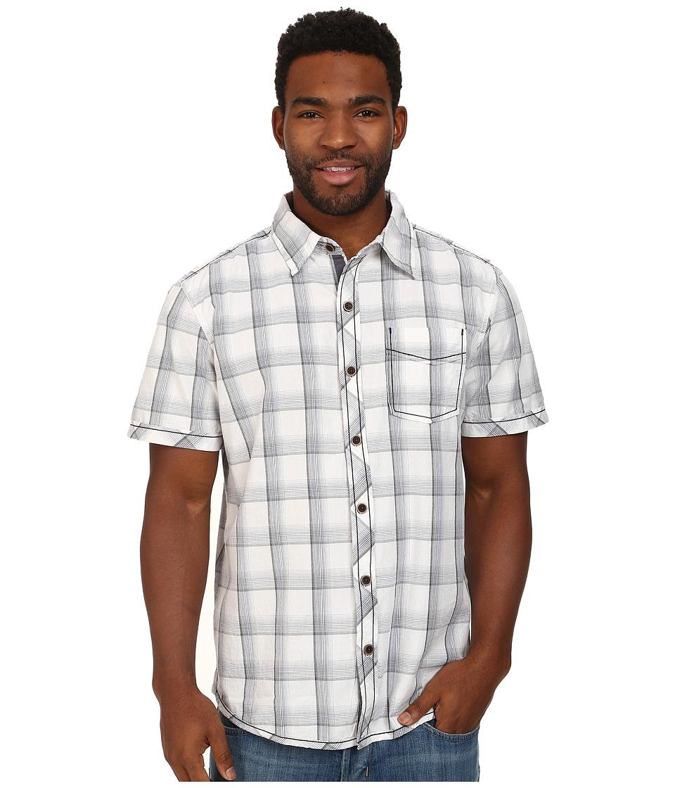 Ecoths - Knox Shirt (Phantom) Men's Short Sleeve Button Up
