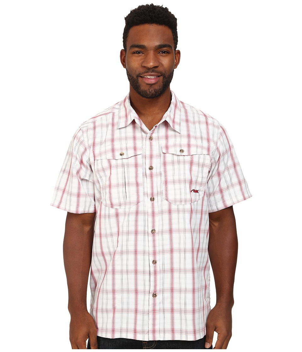 Ecoths - Knox Shirt (Brick Red) Men's Short Sleeve Button Up