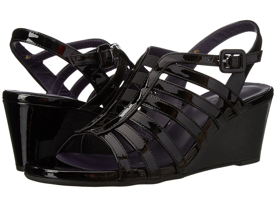 Vaneli - Maslyn (Black Mag Patent/Black Elastic) Women's Wedge Shoes