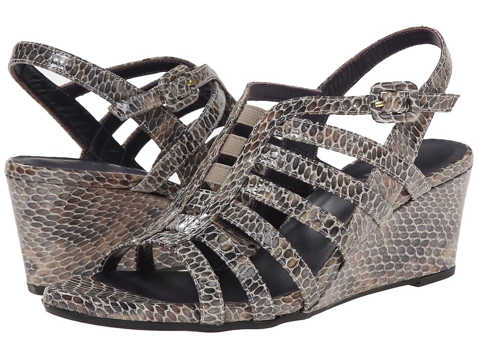 Vaneli - Maslyn (Taupe Per Print/Match Elastic) Women's Wedge Shoes