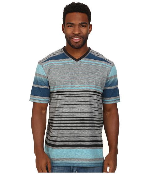 Ecoths - Beckett V-Neck Tee (Lake Blue) Men's T Shirt