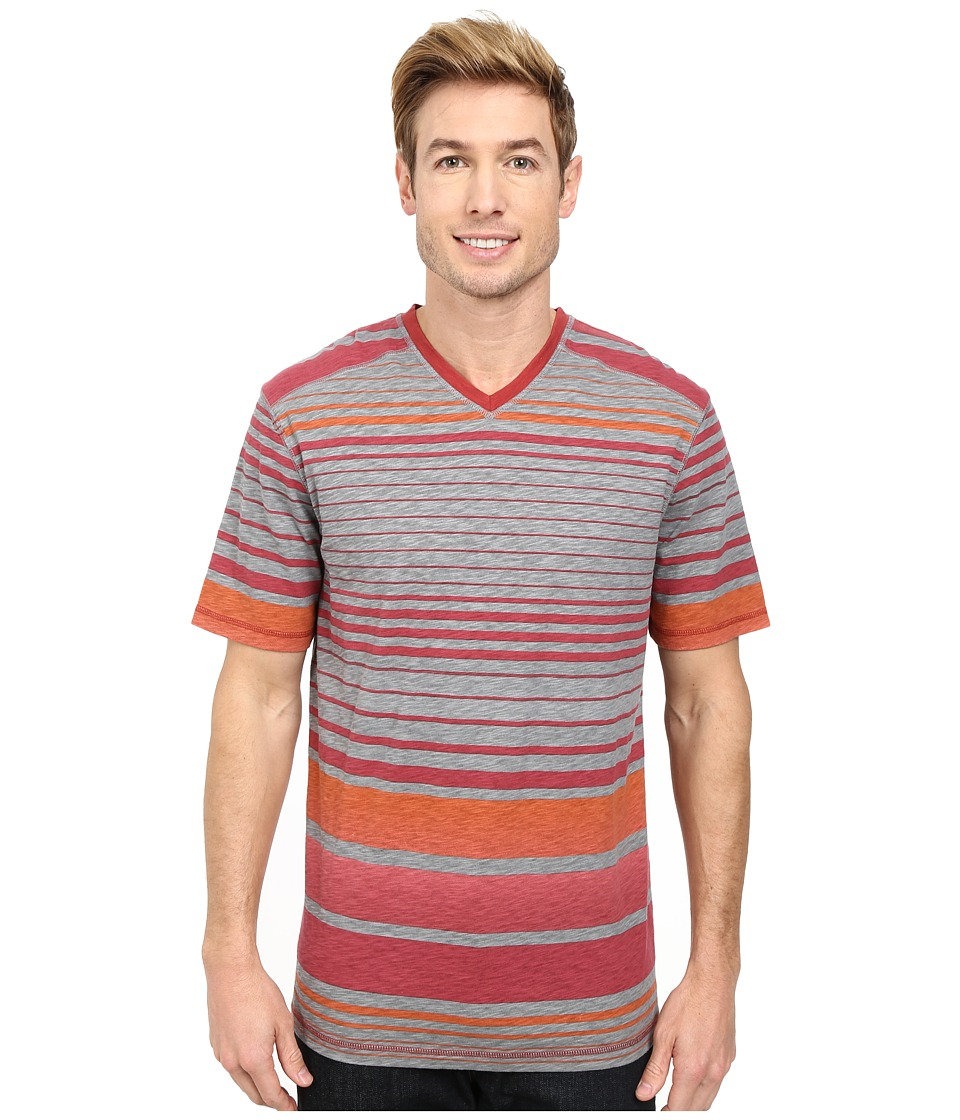 Ecoths - Beckett V-Neck Tee (Brick Red) Men