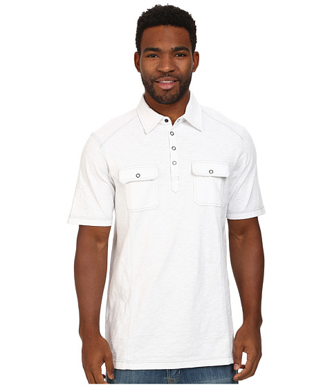 Ecoths - Talon Polo (White) Men's Short Sleeve Pullover