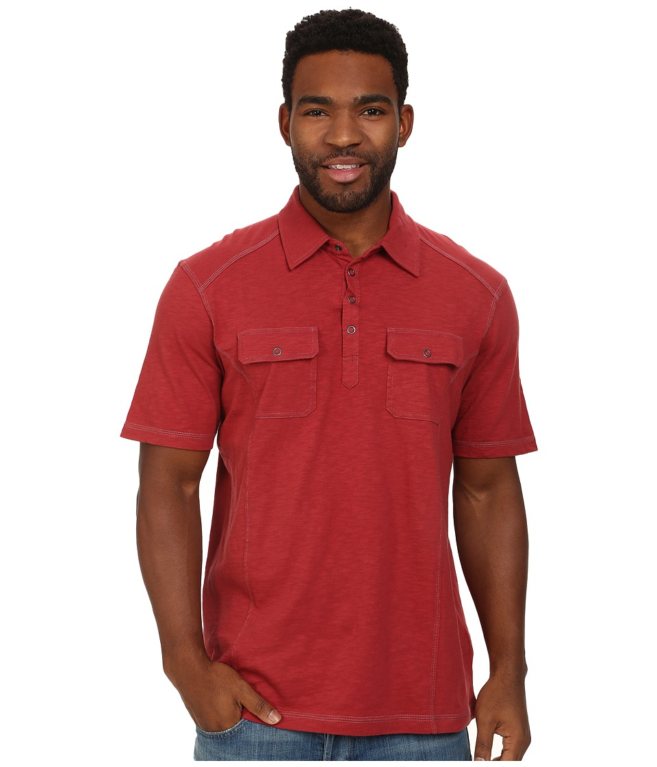 Ecoths - Talon Polo (Brick Red) Men's Short Sleeve Pullover