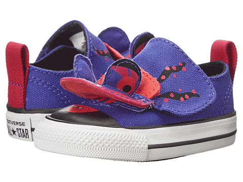 Converse Kids - Chuck Taylor All Star Creatures Ox (Infant/Toddler) (Periwinkle/Berry Pink/Black) Girls Shoes