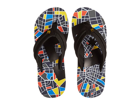 DC - Central Graffik (Blue/Black/Yellow) Men's Sandals