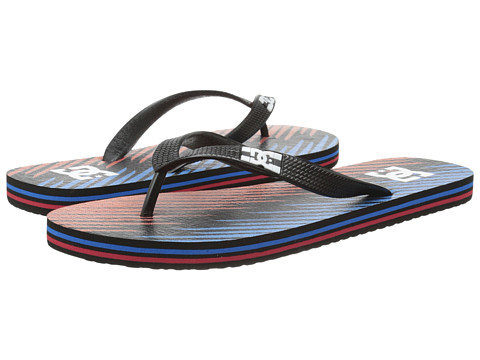 DC - Spray Graffik (Blue/Red/Black) Men's Skate Shoes