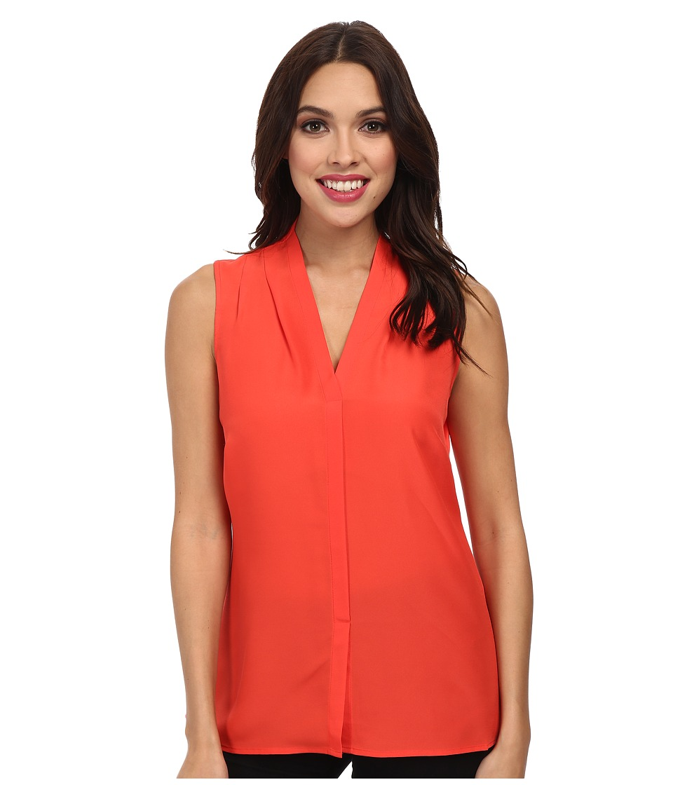 NIC+ZOE - Day to Night Top (Hot Coral) Women's Sleeveless