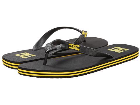 DC - Spray (Black/Black/Yellow) Men's Skate Shoes