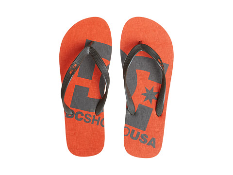 DC - Spray Logo (Orange) Men's Skate Shoes