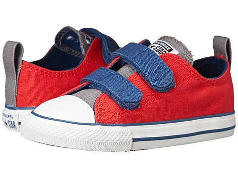 Converse Kids - Chuck Taylor All Star 2V Ox (Infant/Toddler) (Casino/Mason/Midnight Hour) Boys Shoes