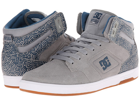DC - Nyjah High (Grey/Blue) Women's Skate Shoes