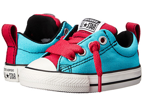 Converse Kids - Chuck Taylor All Star Street Slip (Infant/Toddler) (Peacock) Girls Shoes