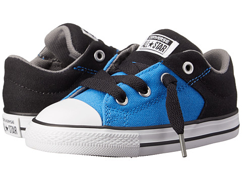 Converse Kids - Chuck Taylor All Star High Street Slip (Infant/Toddler) (Light Sapphire/Black/White) Boys Shoes