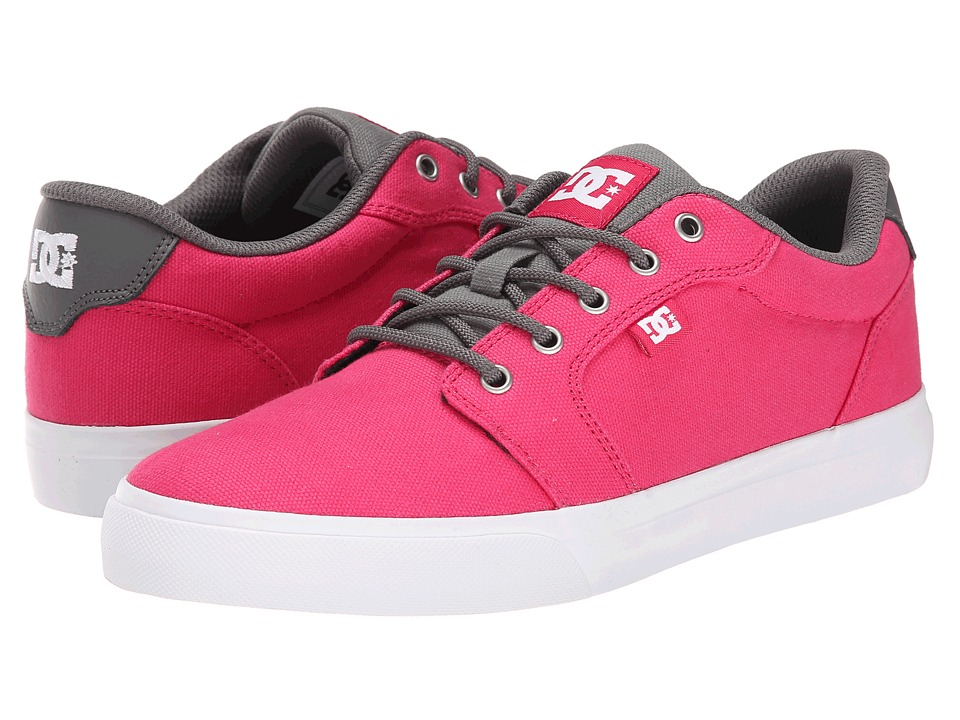 DC - Anvil TX (Raspberry) Women's Skate Shoes