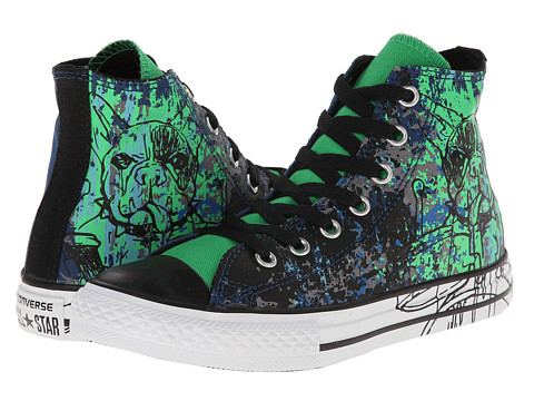 Converse Kids - Chuck Taylor All Star Animal Graphic Hi (Little Kid/Big Kid) (Midnight Hour/Emerald/Black) Boys Shoes