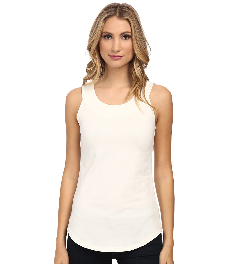 NIC+ZOE - The Perfect Scoop Knit Tank (Milk White) Women
