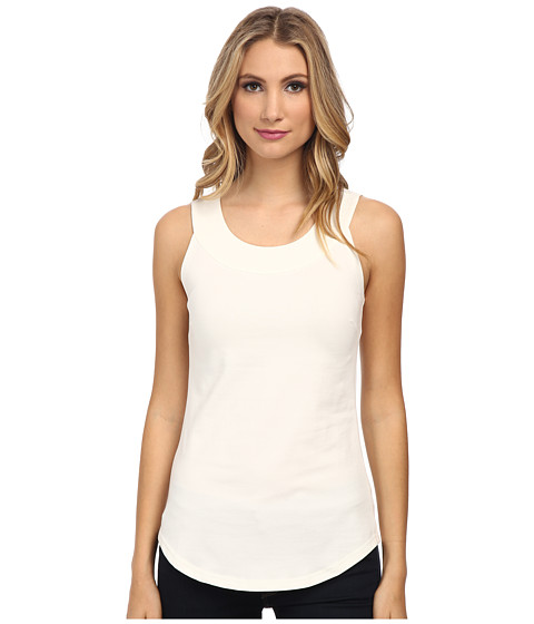 NIC+ZOE - The Perfect Scoop Knit Tank (Milk White) Women's Sleeveless