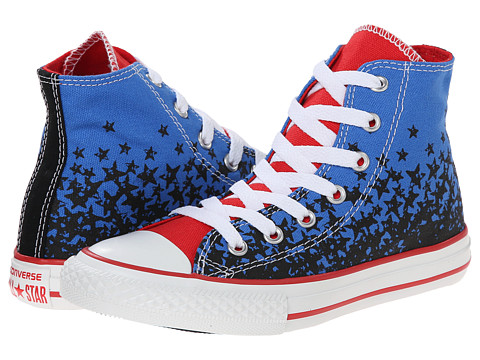 Converse Kids - Chuck Taylor All Star American Stars Hi (Little Kid/Big Kid) (Light Sapphire/Black/Casino) Boys Shoes