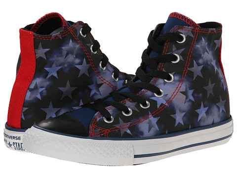 Converse Kids - Chuck Taylor All Star American Stars Hi (Little Kid/Big Kid) (Midnight Hour/Black/Casino) Boys Shoes