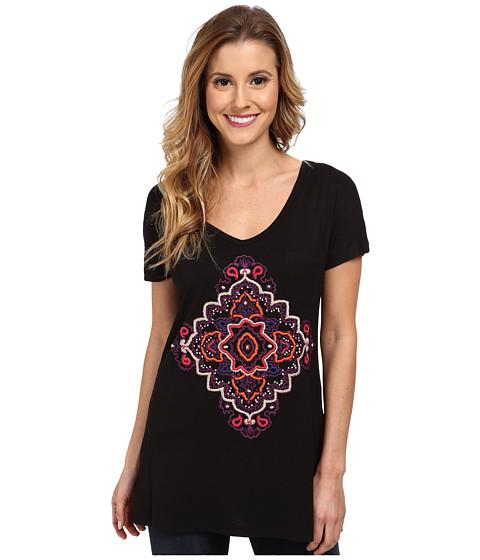 Stetson - Cotton Spandex Jersey Tee (Black) Women's T Shirt