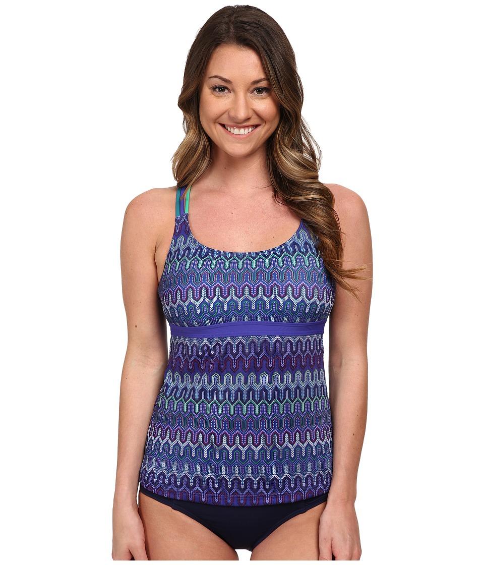 Prana - Indra Tankini (Sail Blue Ibiza) Women's Swimwear