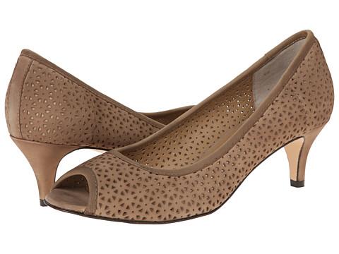Vaneli - Ugonia (Taupe Soft Nubuk/Match Elastic) Women's Toe Open Shoes