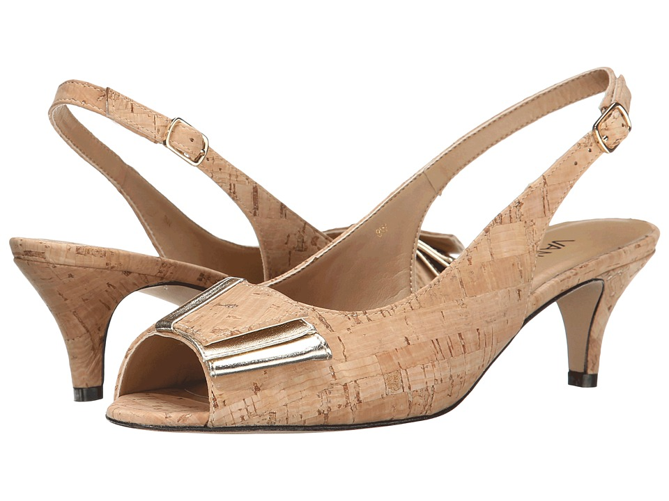 Vaneli - Ulita (Natural Cork/Platino Met Nappa) Women's 1-2 inch heel Shoes